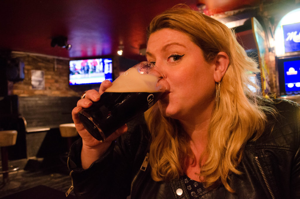 Drinking Guinness in Dublin