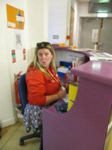 working at the Edinburgh Fringe Festival