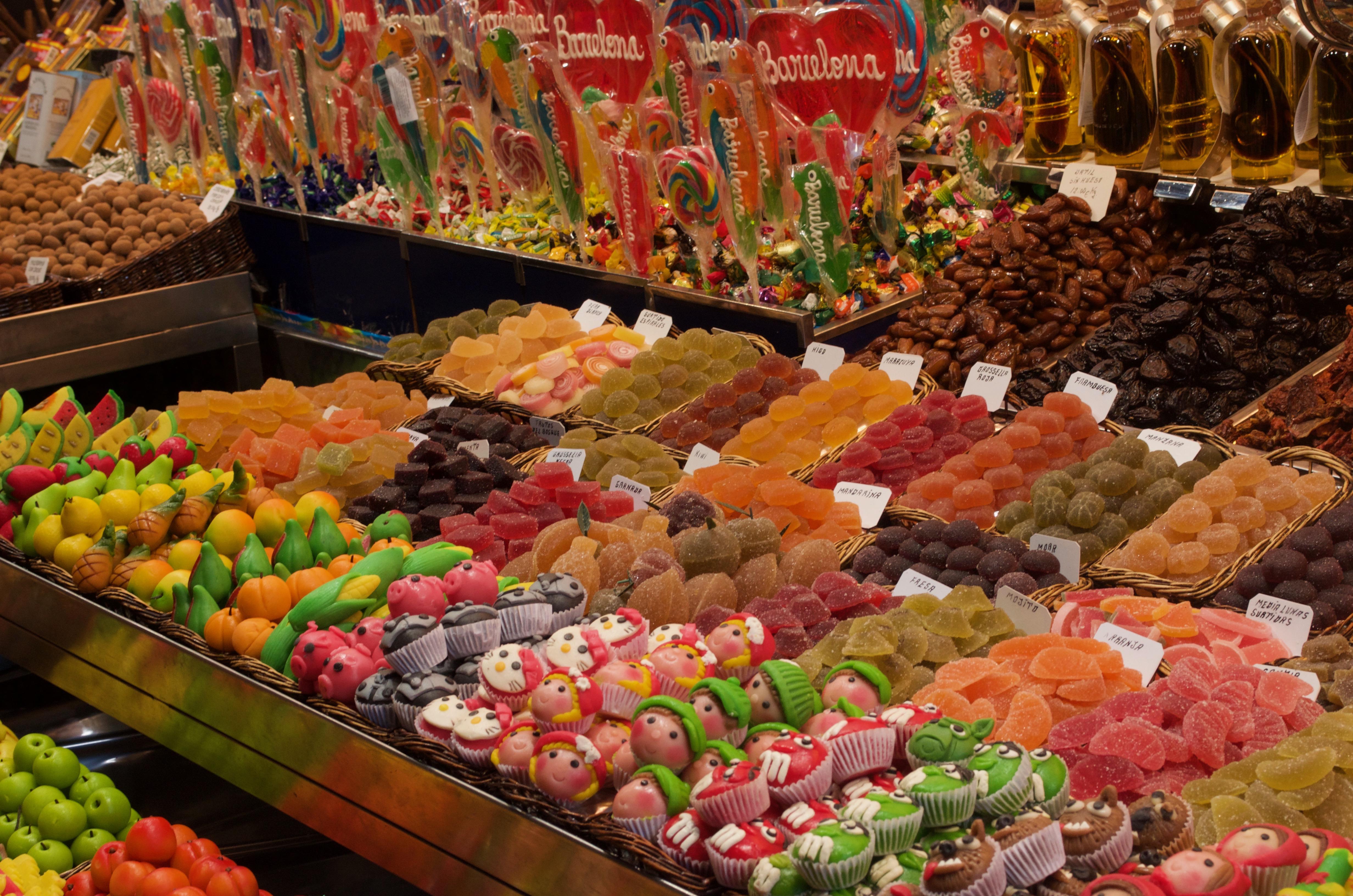 sweets at La Boqueria market