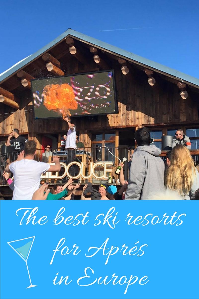 best ski resorts for aprés