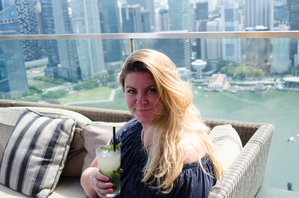 cocktail bar at Marina Bay Sands