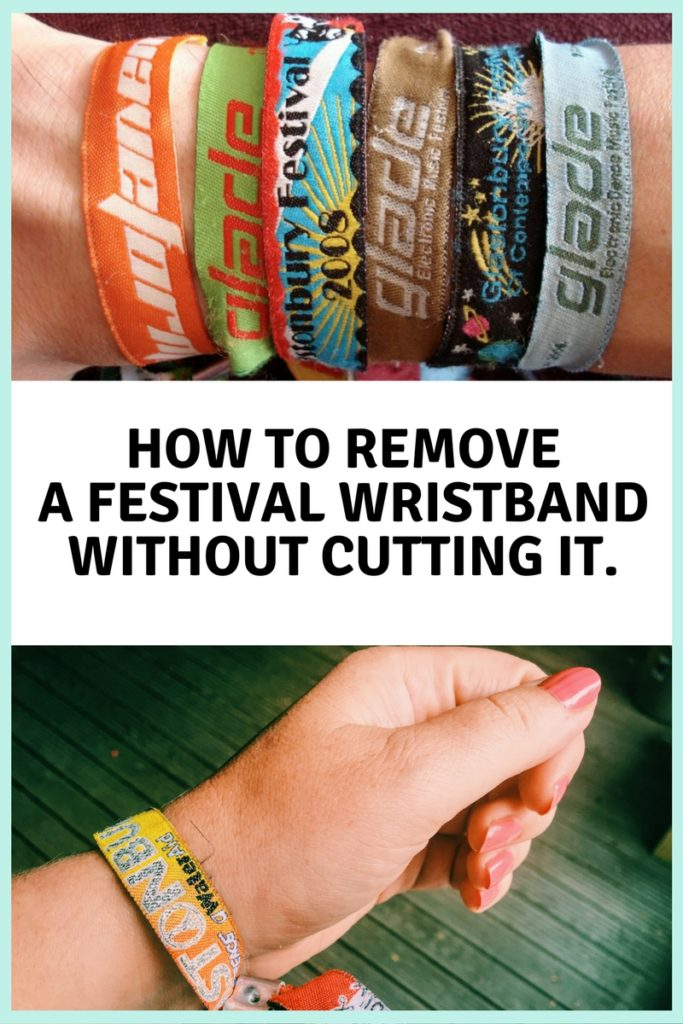 How to remove festival wristband without cutting